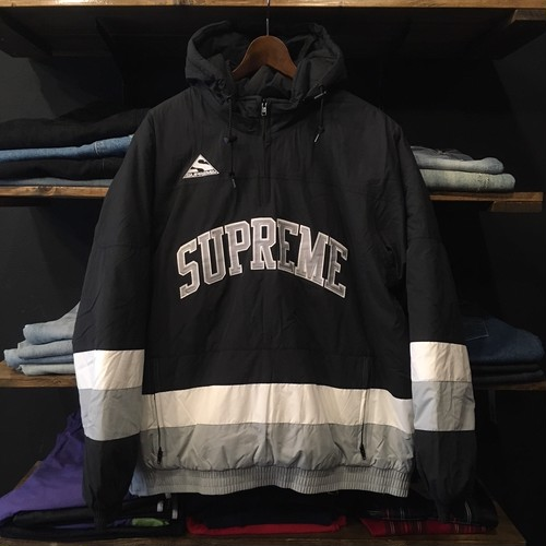 【SUPREME】-シュプリーム-FW17 PUFFY HOCKEY PULL OVER BLACK