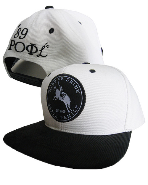 SOLD OUT!! ROD & ROFL SNAPBACK CAP WHTxBLK