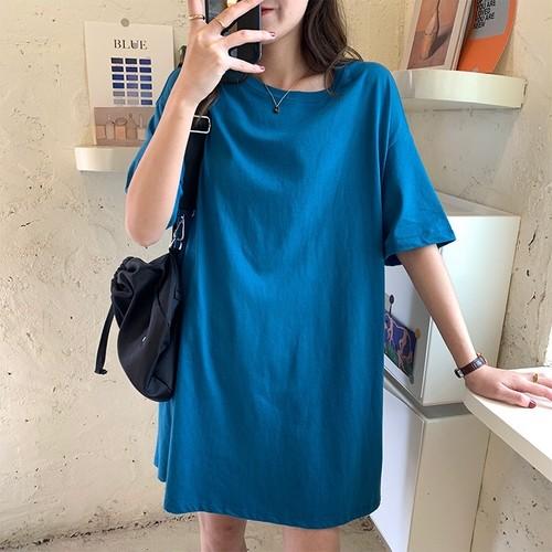 ロング丈カラーTシャツ RR347