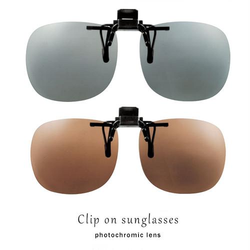 クリップ オン 偏光レンズ 眼鏡に クリップオン で着用 調光サングラス 偏光調光サングラス UVカット 調光サテライトエプロン ST-7