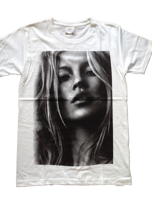 ケイト・モス Kate Moss ファッションモデル プリントTシャツ
