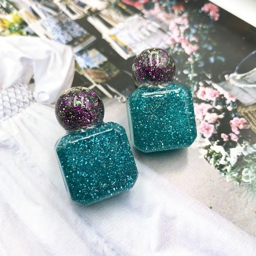 粒々おたんこぶ peacock green【イヤリングのみ】