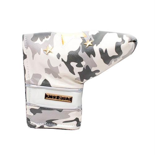 FIVESTAR オーロラスターカモ ピン型PUTTER用ヘッドカバー ホワイト