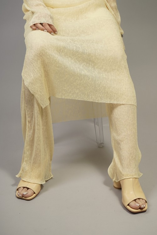 SEE-THROUGH PANTS  (YELLOW) 2104-92-83