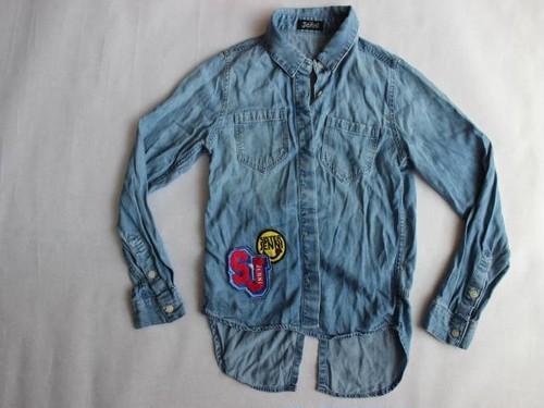 used、JENNI、140cm、デニム風シャツ、女の子用【★3】古着