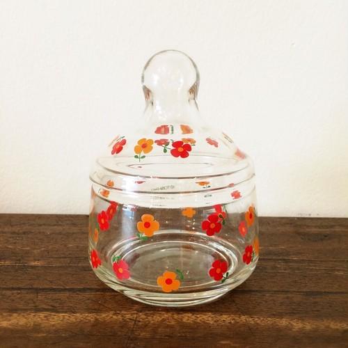 アデリア キャンディーポット 小花柄