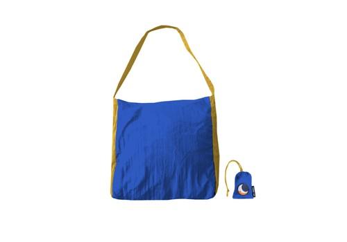 エコマーケットバッグ【カラー】ブルー×ダークイエロー