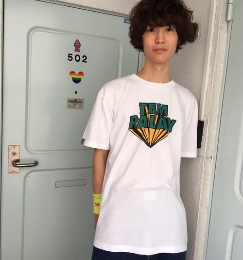 ロゴTシャツ(イエロー×グリーン)