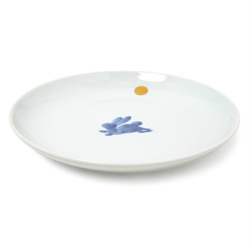 金彩月兎7寸丸皿