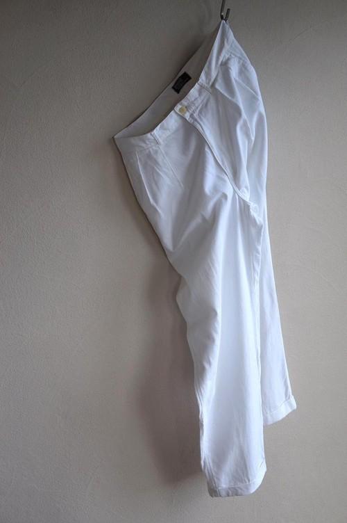 1990's USA製 [Ralph Lauren] 2タック ホワイトコットンパンツ 表記(W33) ラルフローレン