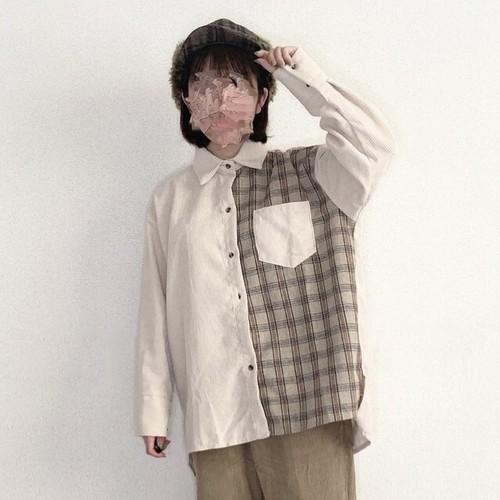 コーデュロイチェックシャツ[S826-32]