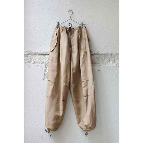 【pelleq】FRONT STRING BIG TROUSERS
