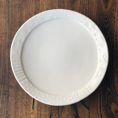 板原摩紀さんのパッチワーク大皿(白)