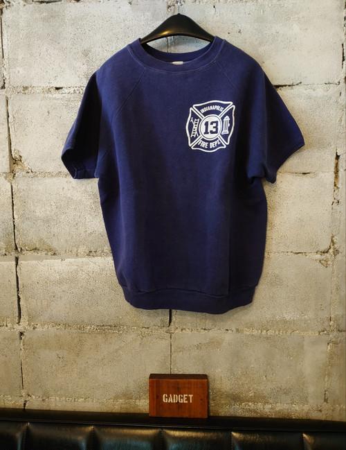 1970s~1980s FRUIT OF THE LOOM Short sleeve Sweatshirt (FIRE DEPT)