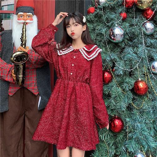 【ワンピース】2019新作日系ファッションレトロスウィートチャーミングワンピース