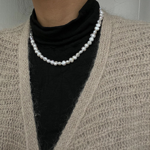random size baroque pearl necklace