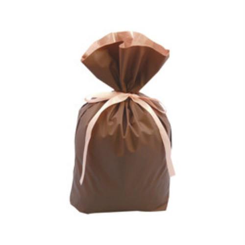 袋タイプ ギフト包装資材(商品1~3袋入りサイズ/ギフト袋)茶色・赤色