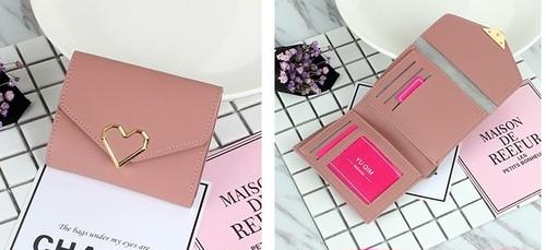 シンプル可愛い二つ折り財布【0188】