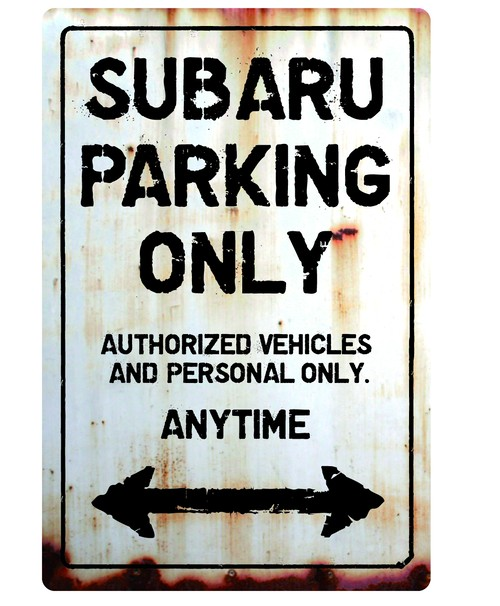 SUBARU Parking Onlyサインボード