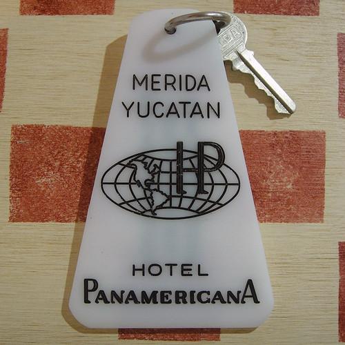 メキシコ HOTEL Panamericana[ホテル・パナメリカーナ]ヴィンテージ ルームキーホルダー