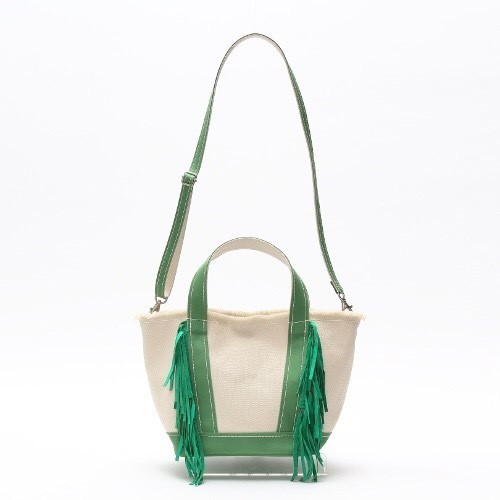 SideFringeToteBag[S]LightGreen