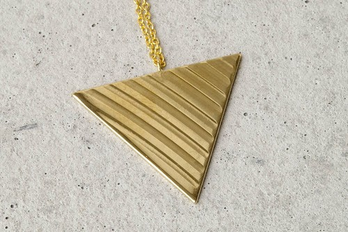 Triangle cymbal necklace【K18G】