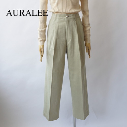 AURALEE/オーラリー ・WASHED FINX LIGHT CHINO WIDE PANTS