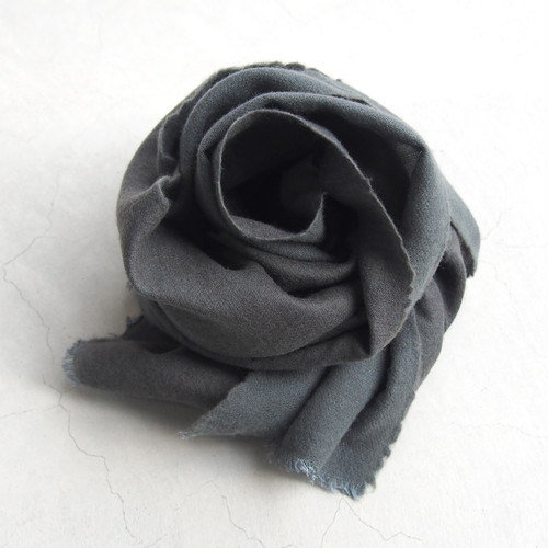 gesture SILK×WOOL stole LIGHT GRAY