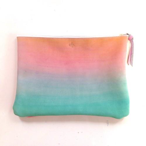 clutch bag -wailea×salmon pink-