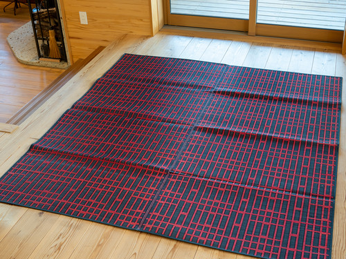 福岡花ござラグ 袋織 レマン 約191x250cm