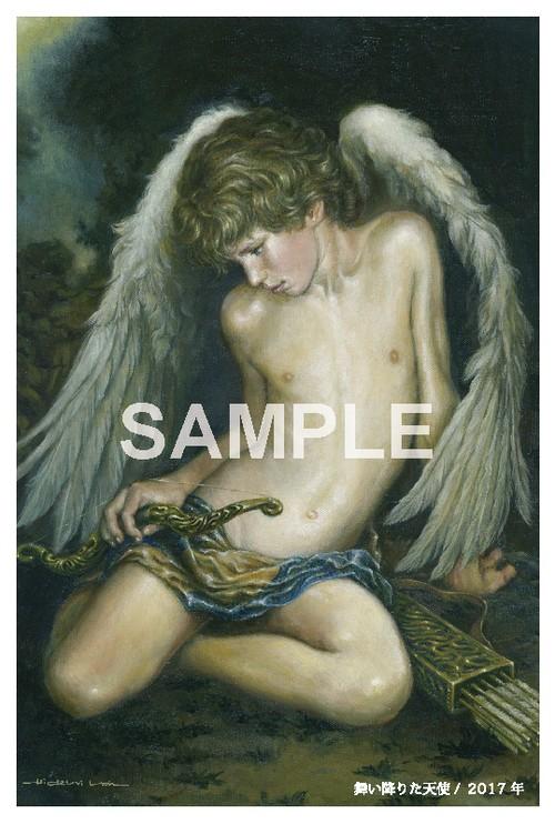ポストカード「舞い降りた天使」