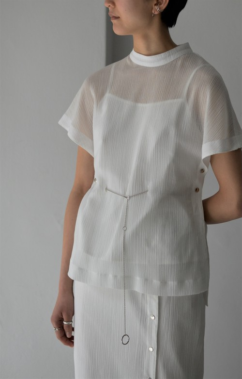 ROOM211 / Crepe Back Open Top (white)