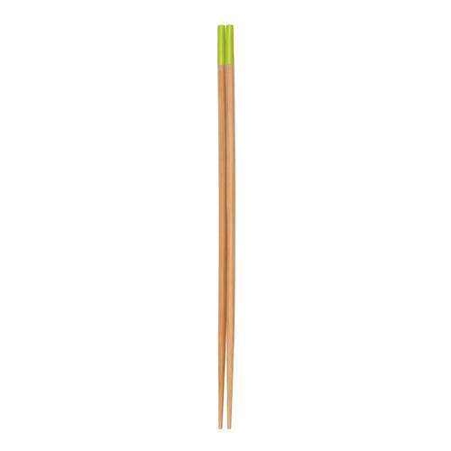 すす竹カラー菜箸(グリーン) 【47-222】