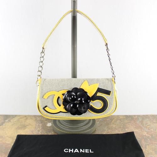 .CHANEL NO5 CAMELLIA DESIGN SEMI SHOULDER BAG MADE IN ITALY/シャネルNO5カメリアデザインセミショルダーバッグ2000000048406