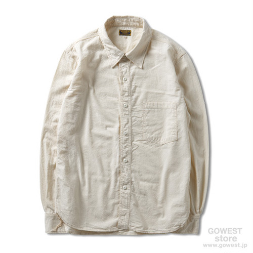 GOWESTーWHITE CHAMBRAY WORK SHRTS