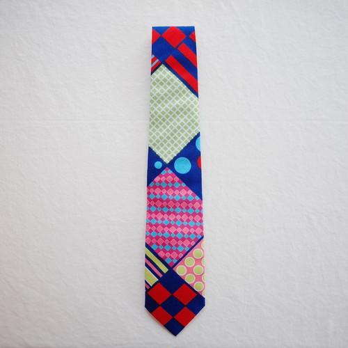 アフリカンプリントx播州織 ネクタイ colorful