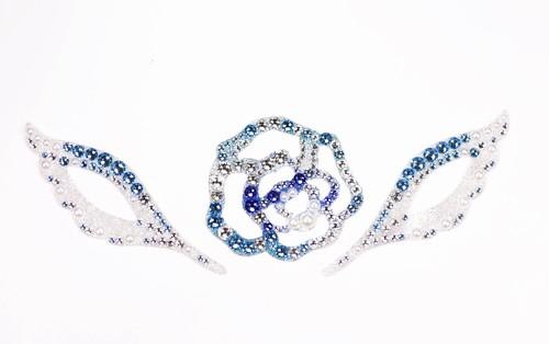 ブルー天使の羽&ローズW50セット