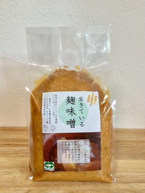 生きている 麹味噌 (青大豆) 1Kg