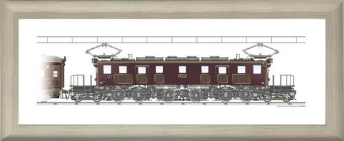 EF57 3+スハフ32 連結 1200x300mm