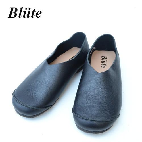 ブリューテ レザースリッポン【blute 】レディース レザーシューズ (black)