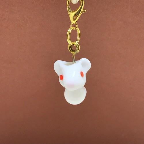 ネズミ 動物とんぼ玉チャーム