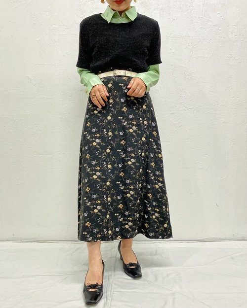 (PAL) flower pattern skirt