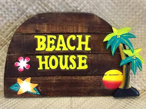 【 BEACH HOUSE ウォールプレート 】