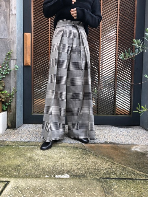 【20AW】Christian Wijnants クリスチャンワイナンツ / check wide pants