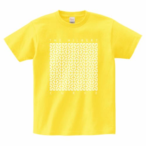 ヒルベルト曲線Tシャツ_イエロー/The Hilbert Curve T (Yellow)