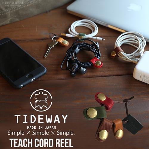 TIDEWAY タイドウェイ 本革 コードリール コードクリップ 4色セット 63-5672 日本製
