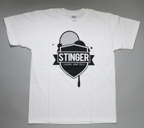 STINGERオリジナル ロゴTシャツ ホワイト