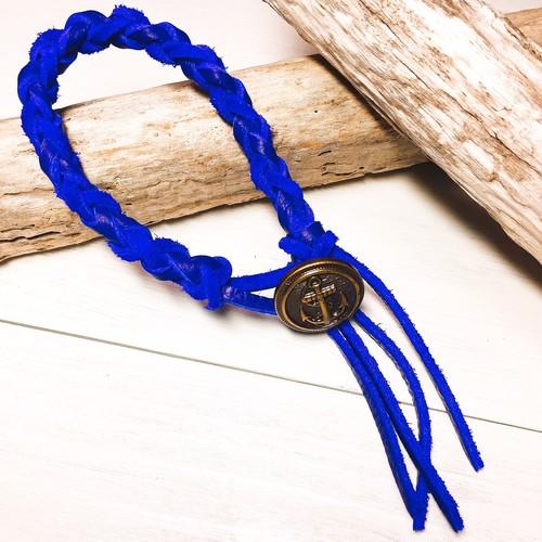Marine concho bracelet (Deep blue)
