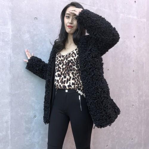 Poodle fur coat
