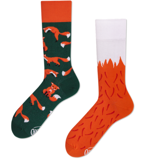 MANY MORNINGS SOCKS くつした THE RED FOX キツネ